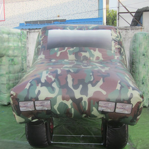 camouflage bunker manufacturers in China giant army inflatable car model inflatable paintball props
