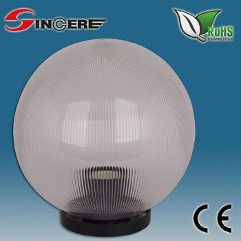 Outdoor Lighting Uvioresistant Acrylic Globe Fitting Plastic Balls Globe  Light Fixture With E27 Socket
