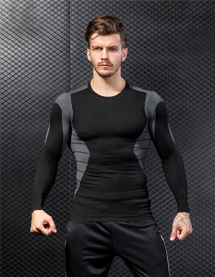 Fitness Sports Quick-drying T-shirt Men's New Long-sleeved 9