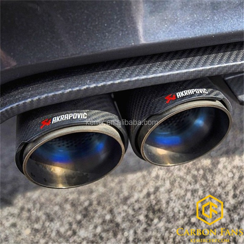 Universal Akrapovic Exhaust Tip With Carbon Fiber Pipe 304 Stainless Steel Buy Akrapovic