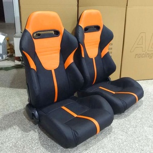 Orange racing seats car seat cover leather for Universal adult use Adjustable car leather racing seats JBR1010