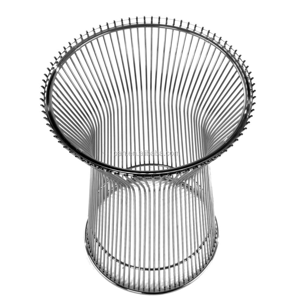 Marvelous USA Style Replica Designer Furniture Gold Plated Steel Wire Rod Base  Platner Side Table