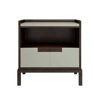 Brown & White finish Single Drawer Simply style design Department Night Stand
