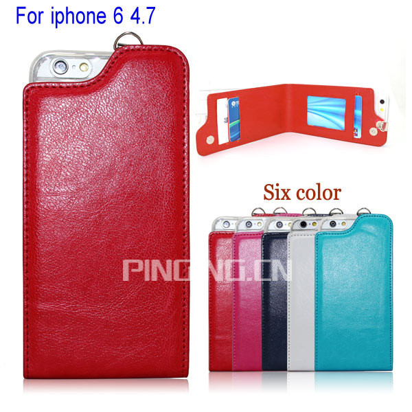 Folded Leather Case For Apple iphone 6,Wallet Case For i phone 6,for i Phone 6 case