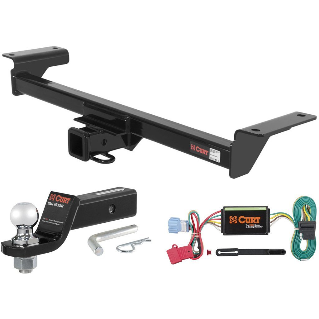 "CURT Class 3 Trailer Hitch Tow Package with 2"" Ball for 2007-2009 Acura RDX"