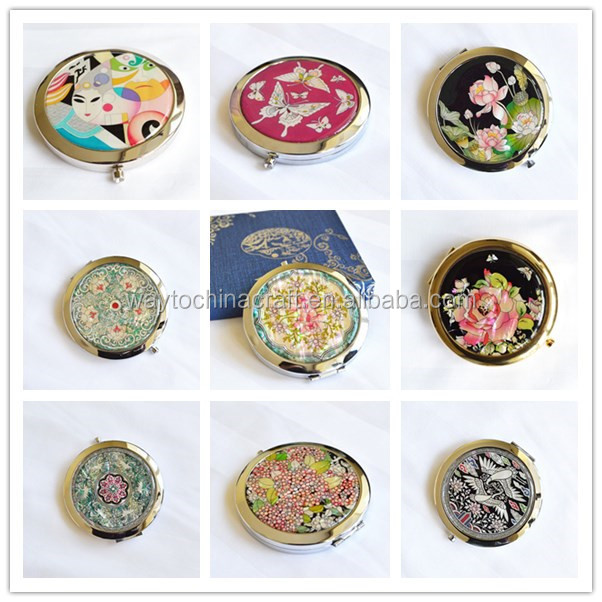 Chinese antique mirror & key chain gift set