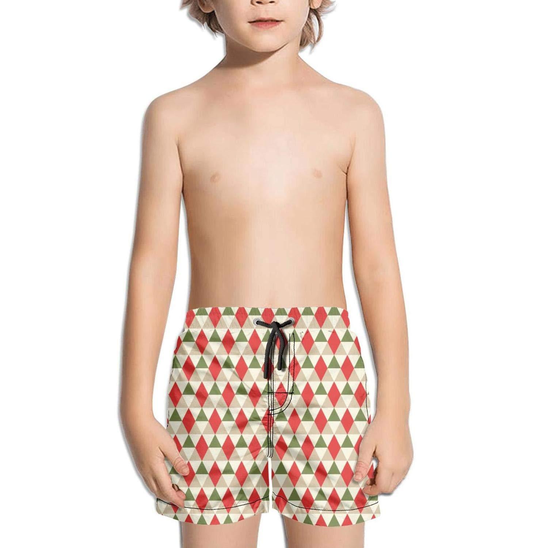 Mens Swim Trunks Quick Dry Plaid Snowflake Printed Summer Beach Shorts Board Beach Short