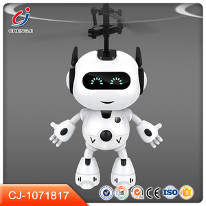 Hot sale infrared rc induction space toy flying robot