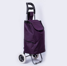 Cheap Reusable Vegetable Shopping Trolley Bag With 2 Wheels