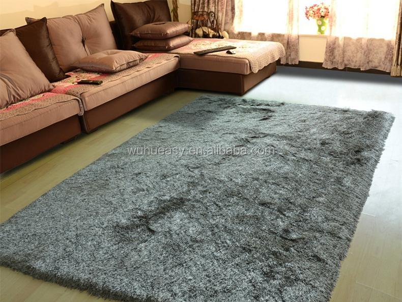 Modern Design Hairy Silk Luxury Living Room Floor Mat