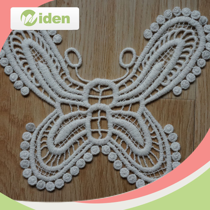 Double layer Soft Lace Butterfly Sew On Patch Badge Applique Motif Trim Craft