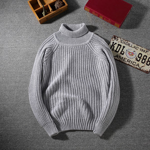 crew neck chunky knitting wool mens cable sweater