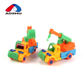 Diy Construction Toys Crane Truck Excavator Toy Car Assembly Kit