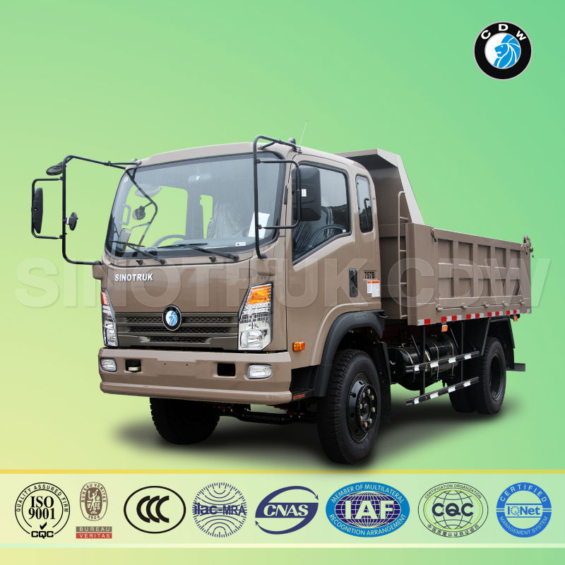 Sino truck diesel Euro 7ton small pricse chinese dump trucks manufacturers in russia