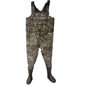 Men's 3.5mm Camo Chest Neoprene Wader Hunting Waders with Rubber Boots
