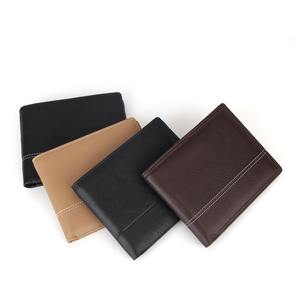 Fashion men genuine leather wallet colorful front pocket smart wallet for men