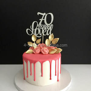 Happy 70th Birthday Cake Topper Suppliers And Manufacturers At Alibaba