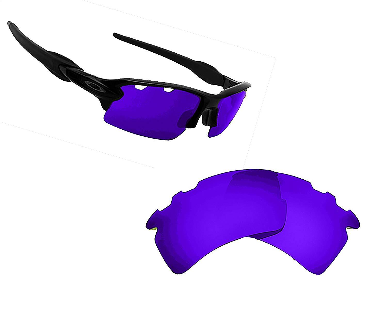 24cc787e7a Get Quotations · Best SEEK OPTICS Replacement Lenses Oakley VENTED FLAK 2.0  XL - Polarized Purple