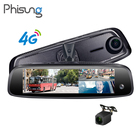 3 Cameras RAM 2GB+ROM 32GB HD Car DVR ADAS 4G FHD 1080P GPS Navi DashCam Android Special Bracket Rearview Mirror for Uber Taxi