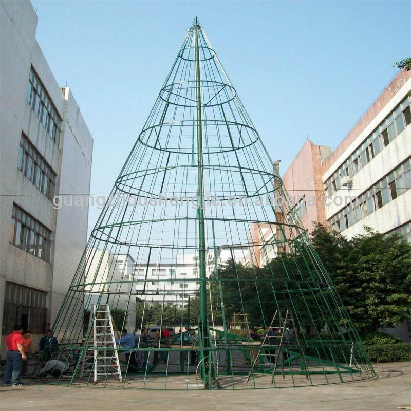 Metal Flocked Christmas Tree Frame - Buy Artificial Christmas Tree ...
