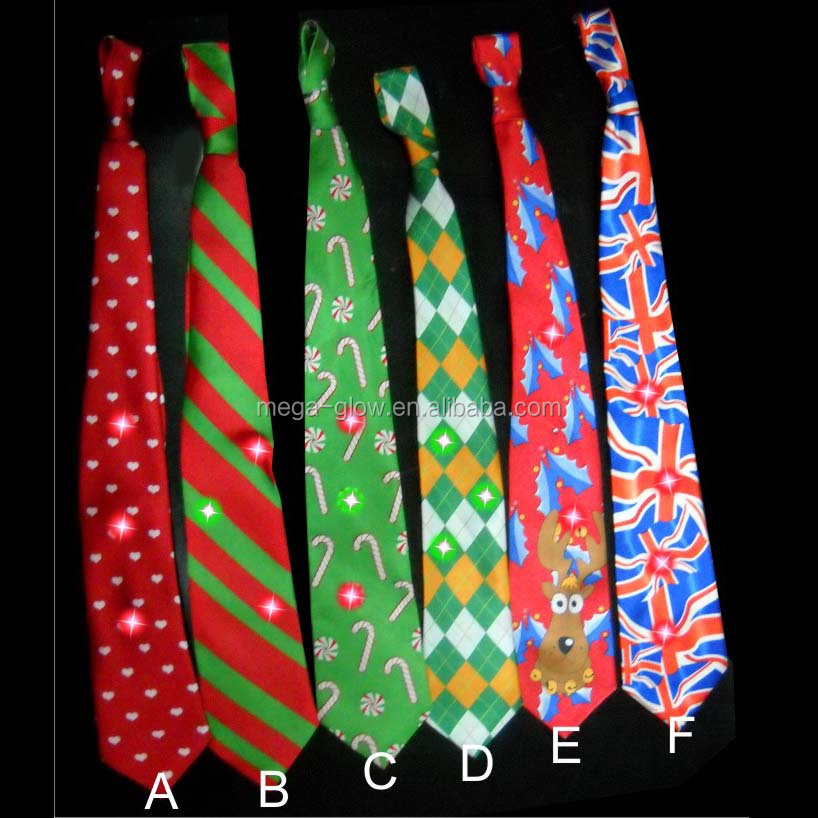 hot sell led blinking party necktie led flashing party necktie christmas led necktie - Light Up Christmas Tie