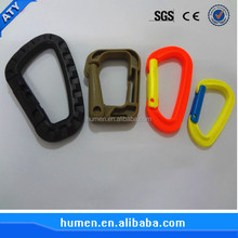 2016 High quality plastic climbing carabiner,plastic carabiner hook clips,swivel carabiner hook