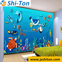 2016 New design sea world real liquid 3d wall and floor tiles