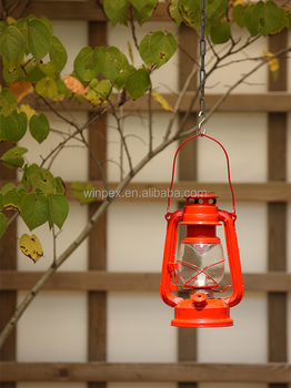 warm white led hurricane lantern red kerosene lantern with dancing