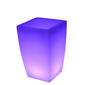 square cube ice bucket /led barware cooler /PE plastic furniture led light up ice bucket cooler