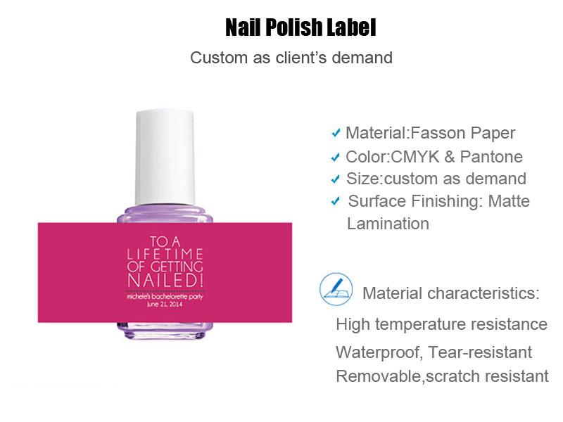 Custom Cartoon Labels Label Bottle Sticker For Nail Polish Supplier