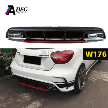 mercedes a class w176 a45 amg look abs diffuser buy w176. Black Bedroom Furniture Sets. Home Design Ideas