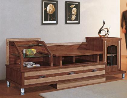 China Manufactory Modern Livingroom Furniture Movable Wood Led Tv ...