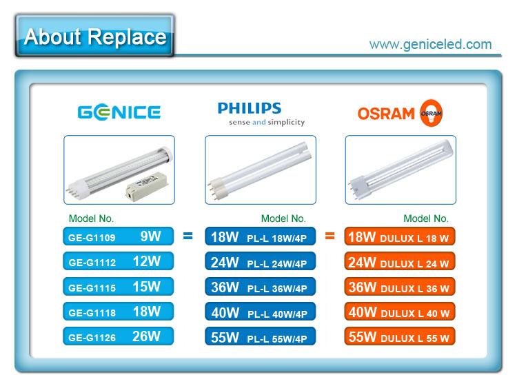 9w 2g11 Base Led Pl Lamp Led 2g11 Base Pl Lamp Buy 2g11