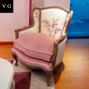 Antique French Style Comfortable Single Sofa Chair Beauty Salon ...