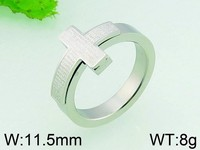 8g Simple Design Cross Ring Stainless Steel Men Silver Ring