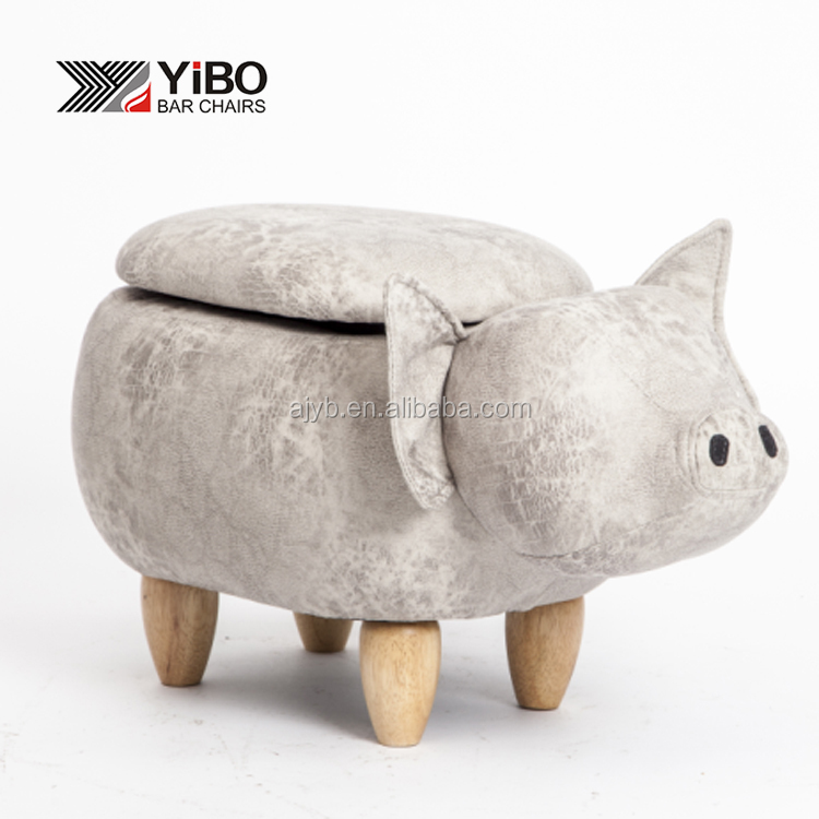 animal shape stool / pig shape storage stool