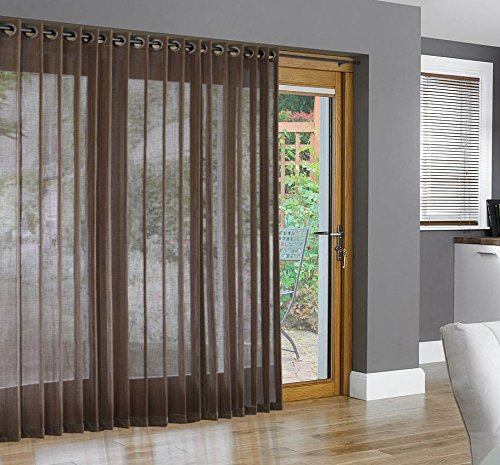 Ordinaire Get Quotations · Bamboo Grommet Top Panels For Sliding Glass Doors And  Large Windows Pecan 48x84