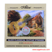 Classical Guitar String cordas da guitarra 1 set Clear Nylon String Hard Tension - Alice A106-H encordoamento
