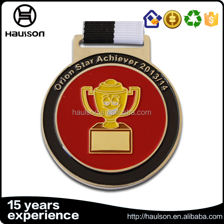 Best price custom 3d casting flat wave shape soft enamel brass iron zinc alloy silver plated challenge award medal with ribbon