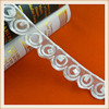 Fantastic and latest design embroidered organza lace trim guipure / polyester lace trim