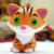 Orange Scented Small Tiger Slow Rebound Squishy Charm Toy