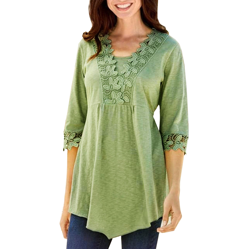 2019 <strong>Lace</strong> Women Ladies Cotton <strong>Blouse</strong> Fashion Tops <strong>Plus</strong> <strong>Size</strong> Women Clothing 5xl T-shirts