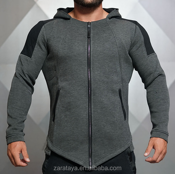 OEM Manufacturer Customize Gym Hem Jacket Casual Mens Outerwear