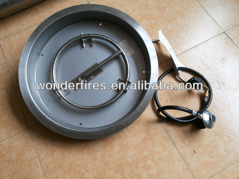outdoor gas firepit / fireplace pan system/patio heater