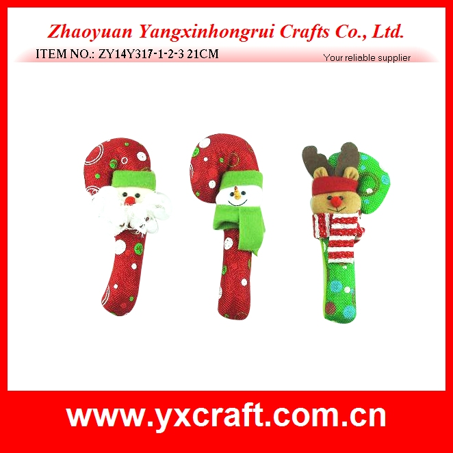 Christmas decoration (ZY14Y317-1-2-3 21CM) christmas candy cane decoration, christmas tree candy cane gift, christmas gift