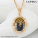 32545 xuping charm jewelry 18K gold color Neutral Virgin Mary child locket pendant