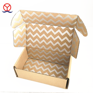 Wholesale flat shipping custom size guangzhou manufacturer recycled corrugated material postal brown kraft mailing box