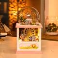 Hoomeda MC002 Happiness Ferris Wheel DIY Dollhouse Kit With LED Light Music Decor Collection Birthday Holiday
