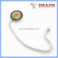 customized zinc alloy relief frame epoxy flower classical handbag hook