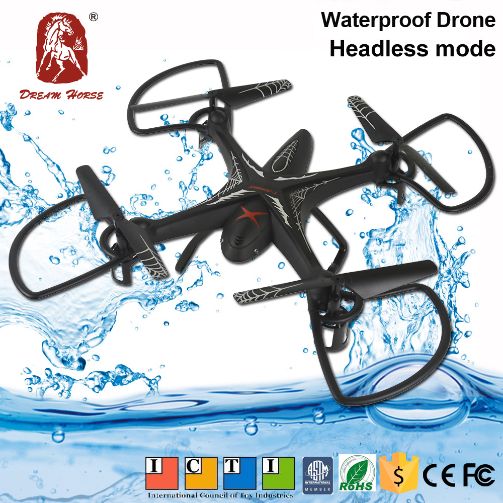 Drop into water can fly drone, flying long range toy drone with 360 rolling